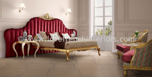Venezia Bedroom Collection in Red and Gold Leaf